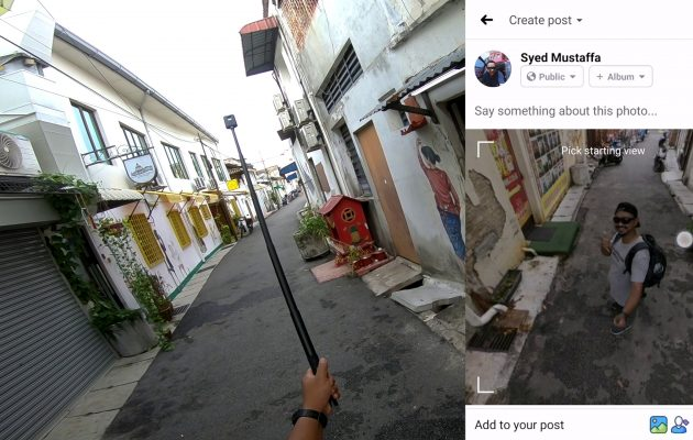 upload foto 360 ke facebook