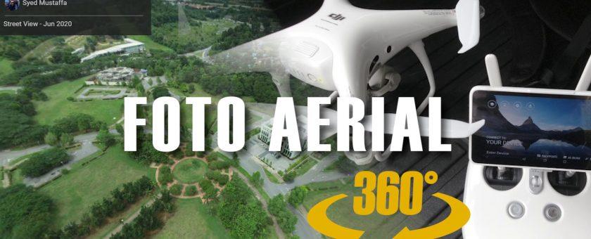 cara bikin foto 360 guna drone